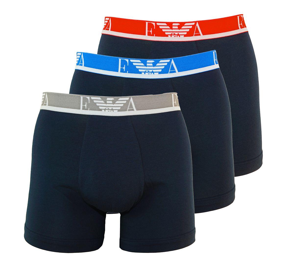 Emporio Armani 3er Pack Boxershorts Unterhosen Marine 111473 7P715 40035 WF17-EAB1