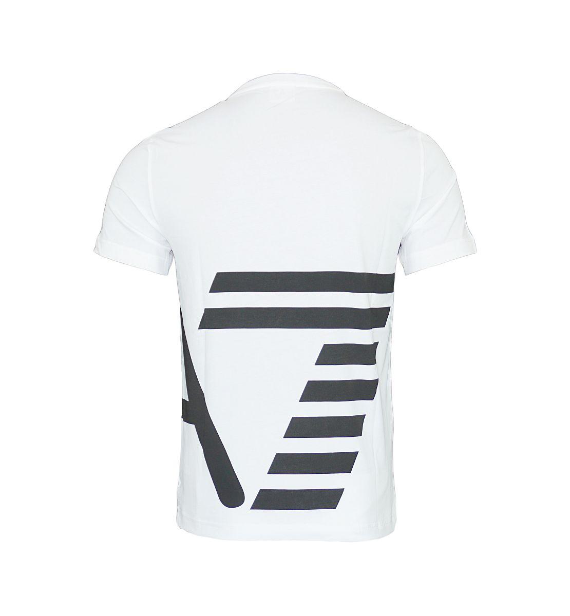 EA7 Emporio Armani T-Shirt Rundhals 6YPTB8 PJH7Z 1100 White HW17-EATS1