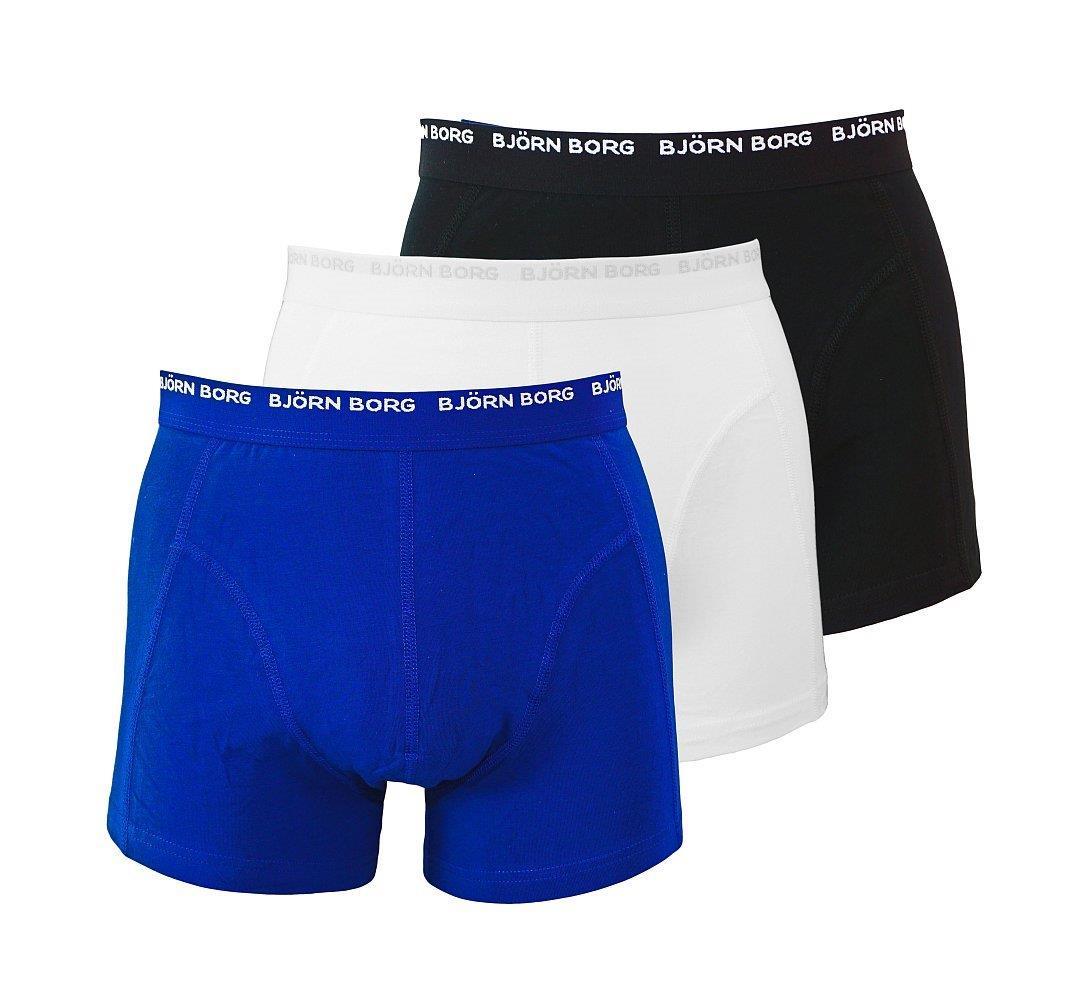 Björn Borg 3er Pack Shorts Boxershorts Unterhosen 999800 108023 70101 schwarz blau weiss gp