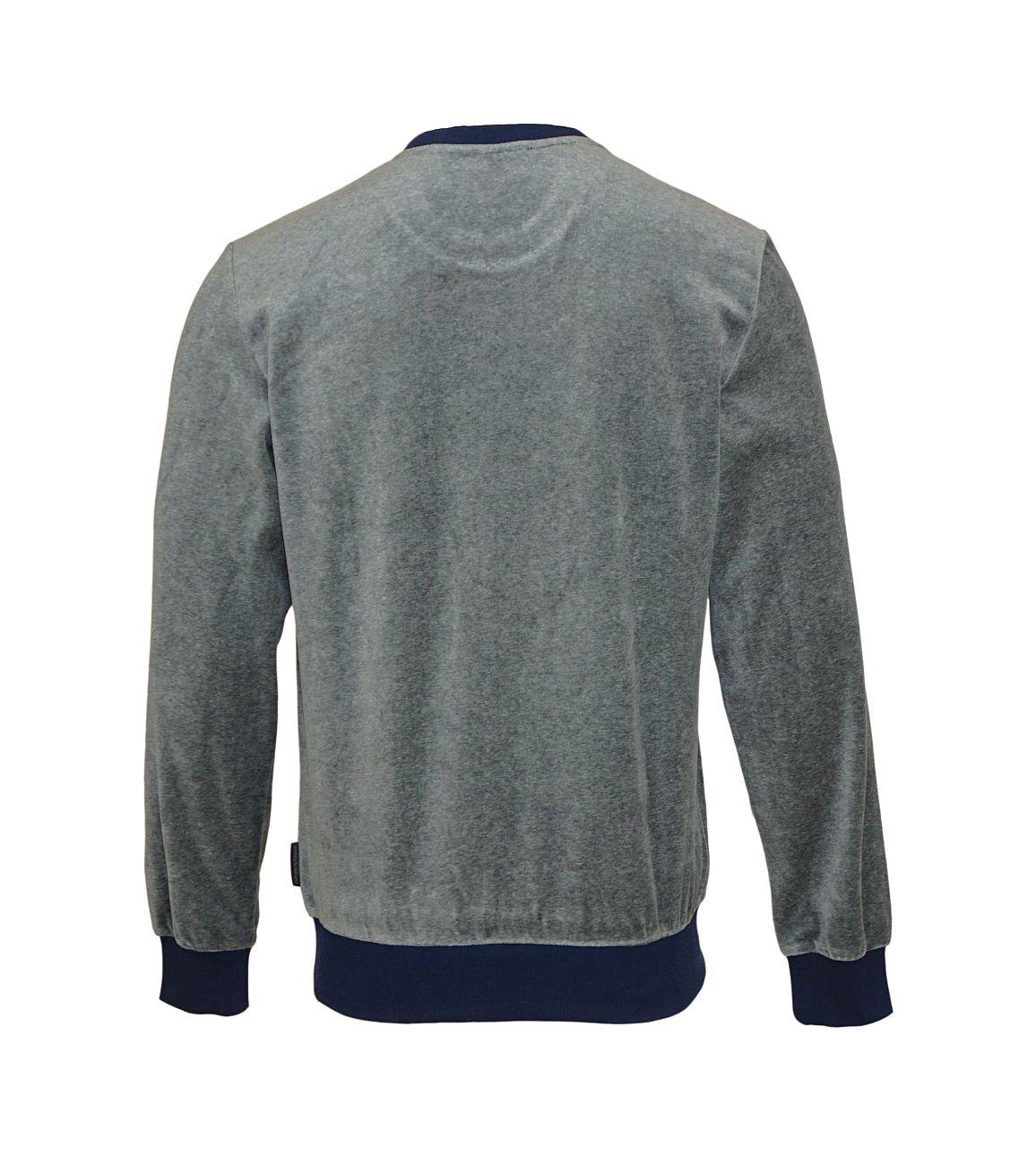 Emporio Armani Sweater Pullover Rundhals 111785 8A589 06749 GRIGIO MELANGE SCURO WX18-EAS