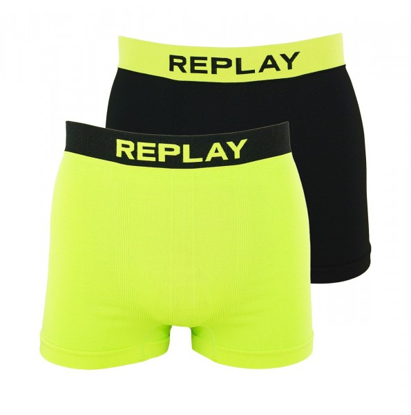 Replay 2er Pack Boxer Shorts Unterhosen I101010-001 N091 yellow, black WF19-RPT2