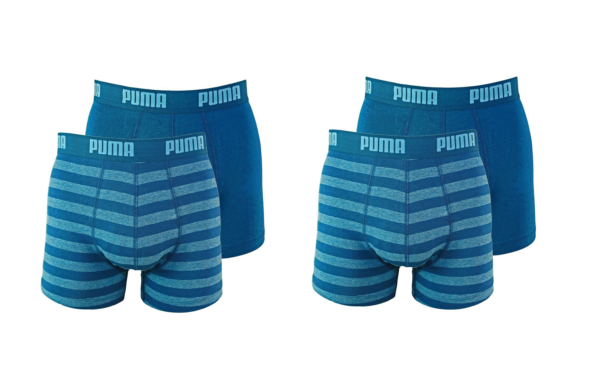PUMA Shorts Unterhosen 2 x 2er Pack Boxer 651001001 162 020 denim SF17-PMS2
