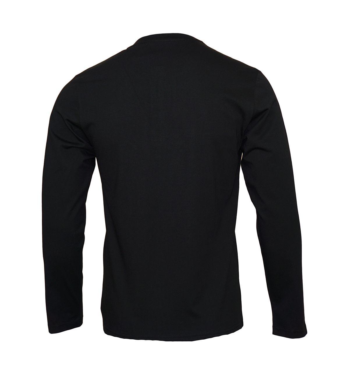 Emporio Armani Longsleeve Henley Sweater 111817 8A576 00020 NERO WX18-EAL