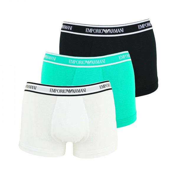 Emporio Armani 3er Pack Trunk 111357 0P717 65510 black, green, white WF20-EA2