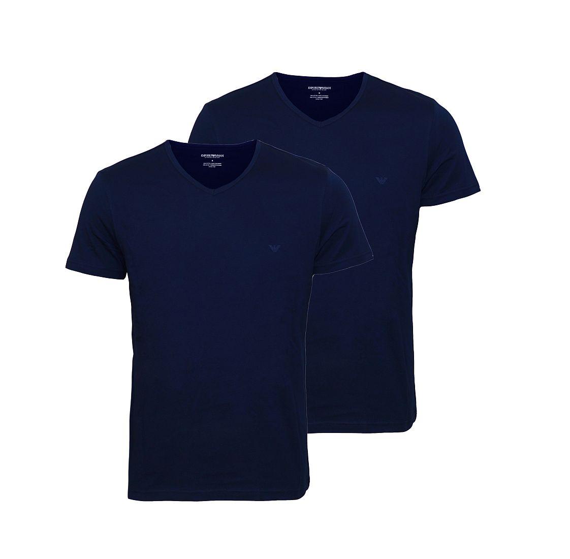 EMPORIO ARMANI 2er Pack Shirt T-Shirt navy V-Ausschnitt 111648 CC722 27435 HW16