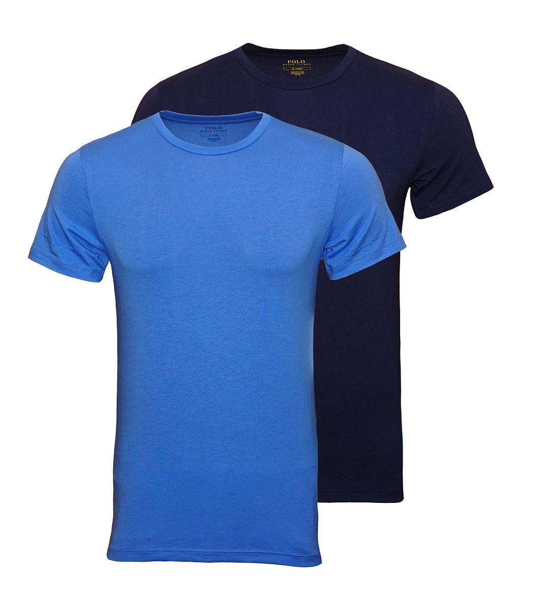 Ralph Lauren 2er Pack T-Shirts Rundhals NAVY/AERIAL BLUE W18-RLH1