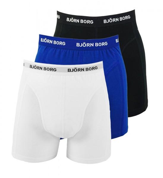 Björn Borg 3er Pack Boxershorts Unterhosen 9999-1024 70101 weiß, blau, schwarz W19-BBS1