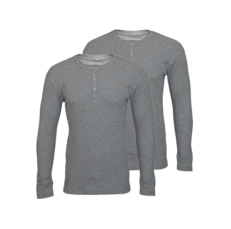 LEVIS Shirts 2er Pack Henley Longsleeve 961023001 758 Middle Grey Melange SF17-LVLV2