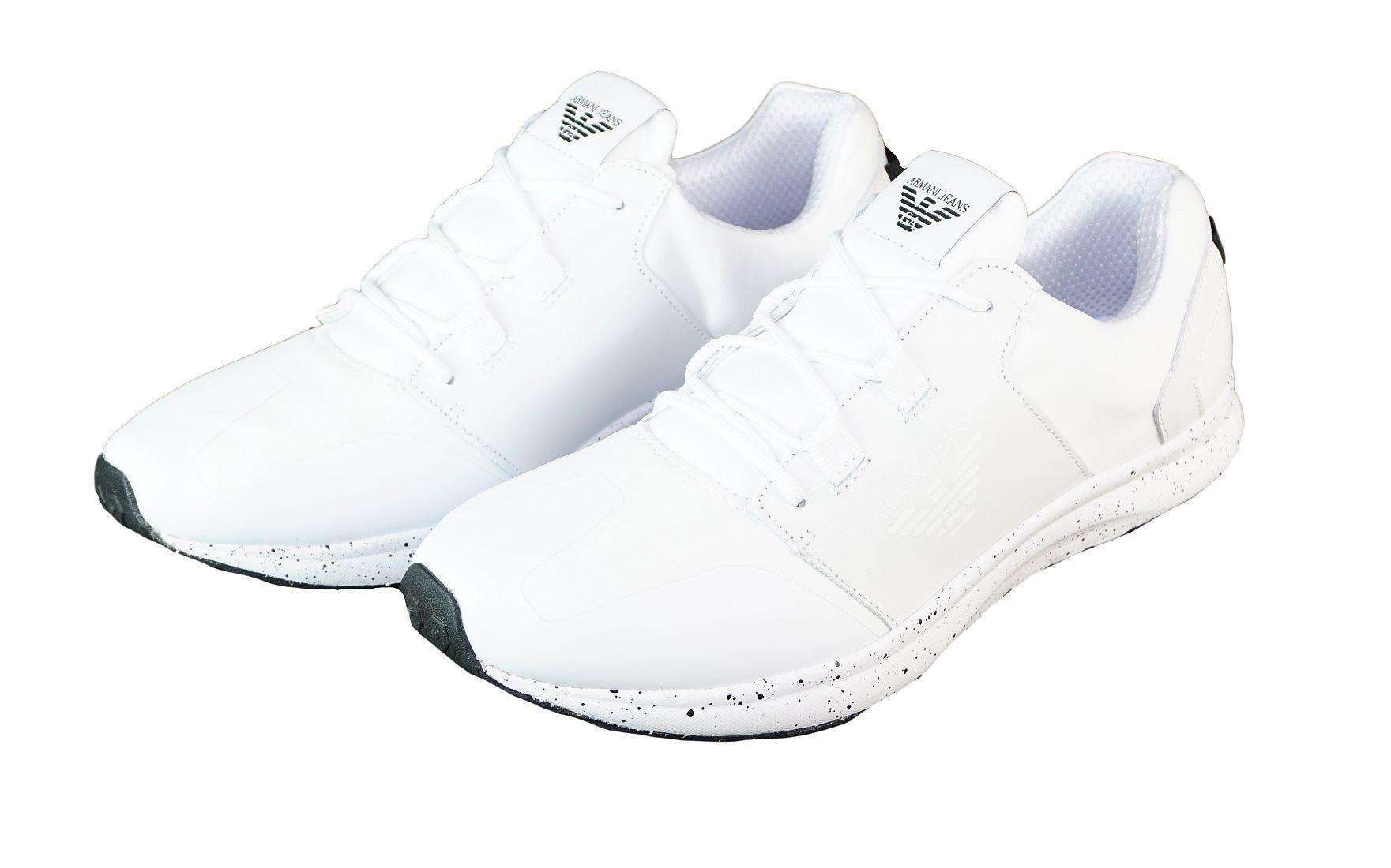 Armani Jeans Schnürschuhe Sneaker Low Cut 935037 7P416 00010 Bianco weiss S17-AJS1