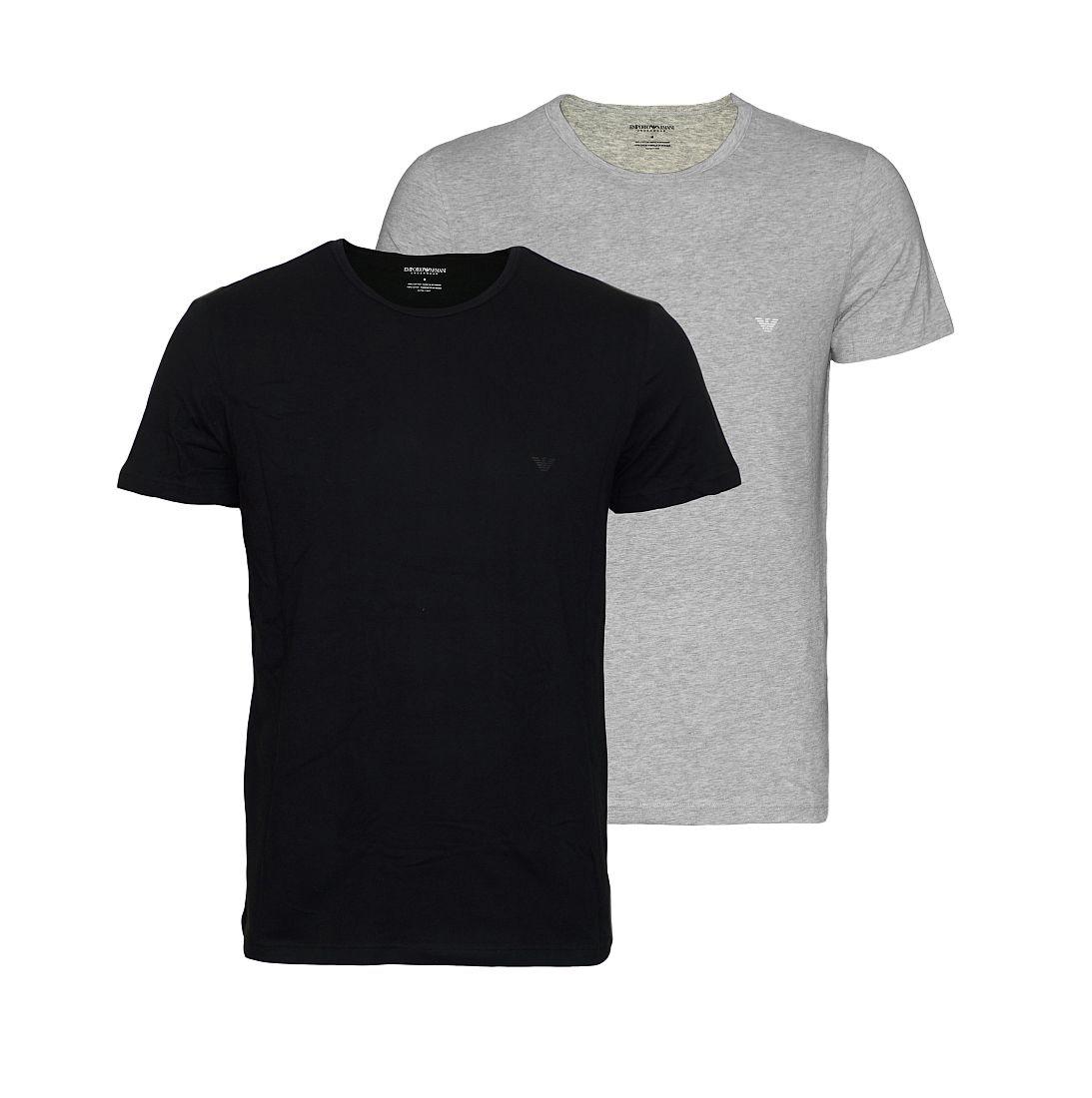 EMPORIO ARMANI 2er Pack Shirt T-Shirt schwarz grau 111647 CC722 97120 HW16