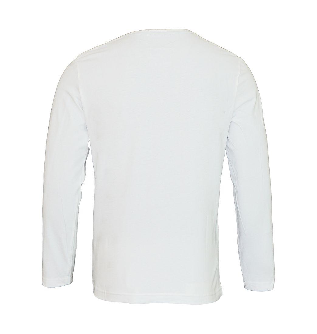 Tom Tailor Longsleeve Shirt Logoprint weiß white 1038210 0010 2000 WF17-J1