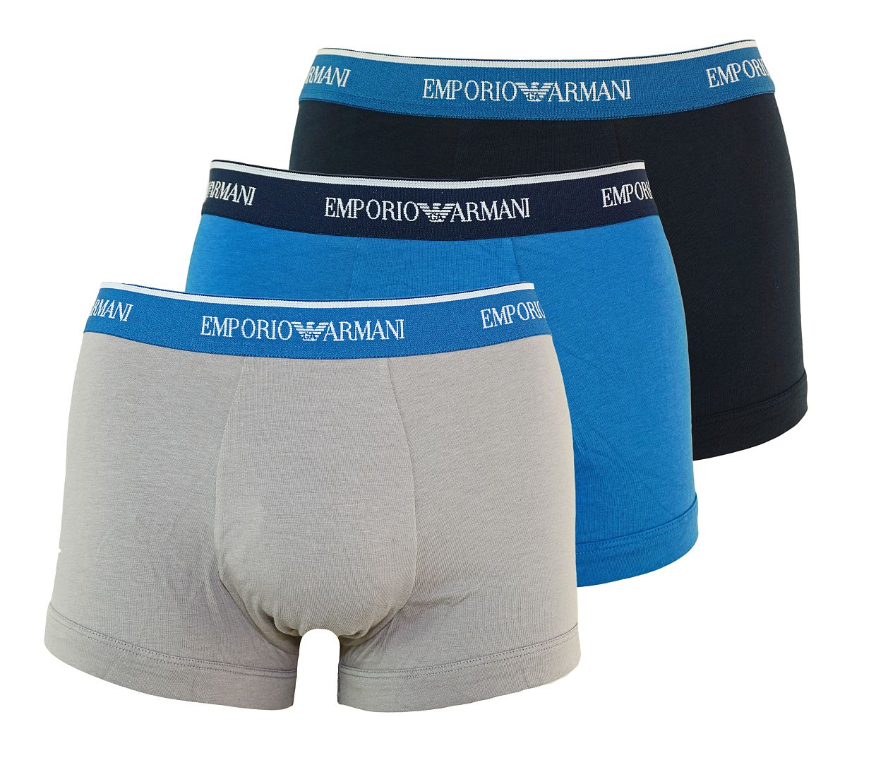 Emporio Armani 3er Pack Trunk Shorts MARINE/FERRO/LAPIS 111357 7P717 39935 WF17-EAT1