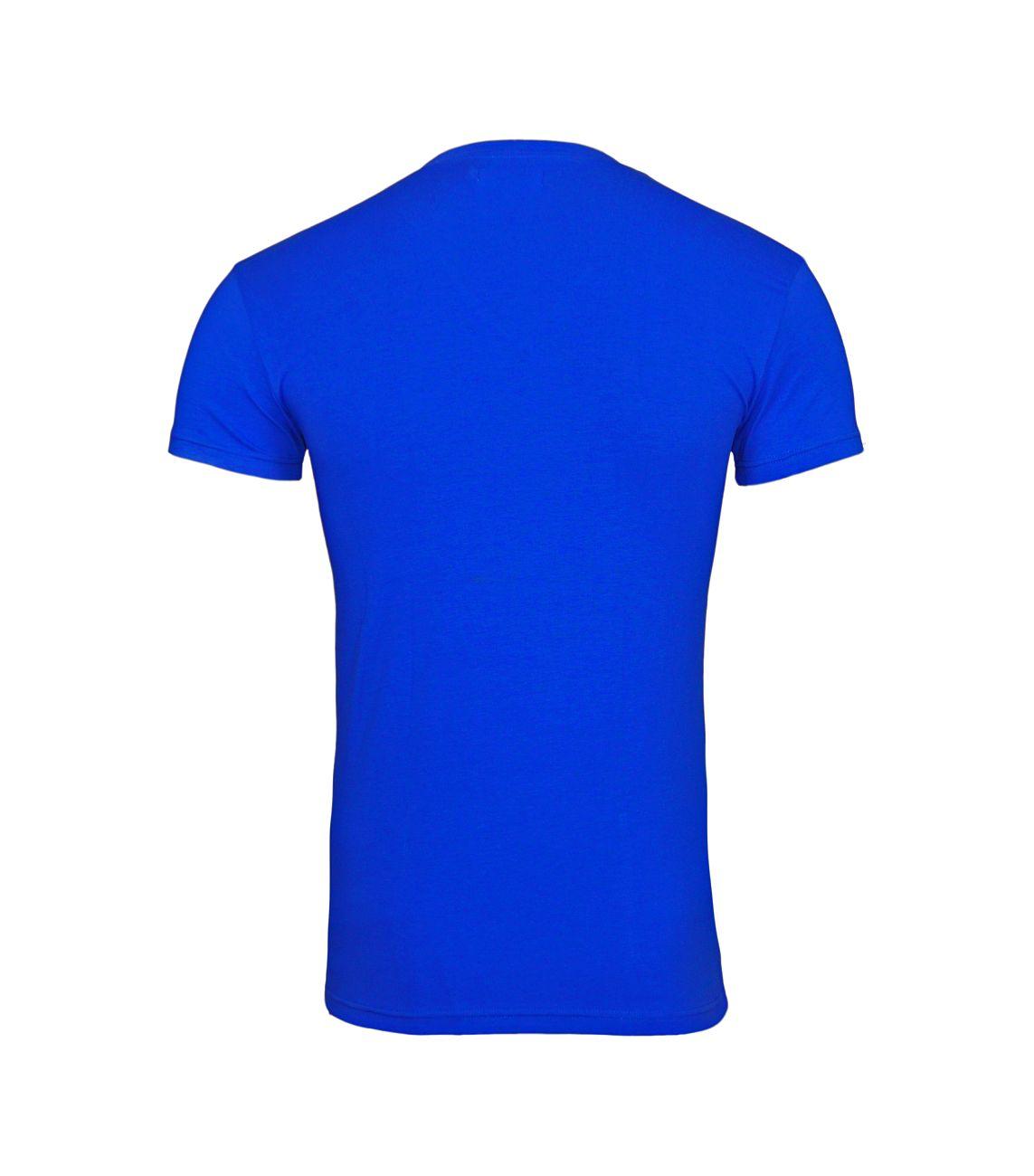 Emporio Armani T-Shirt V-Ausschnitt 110810 8P512 20533 ULTRAMARINE F18-EAT1
