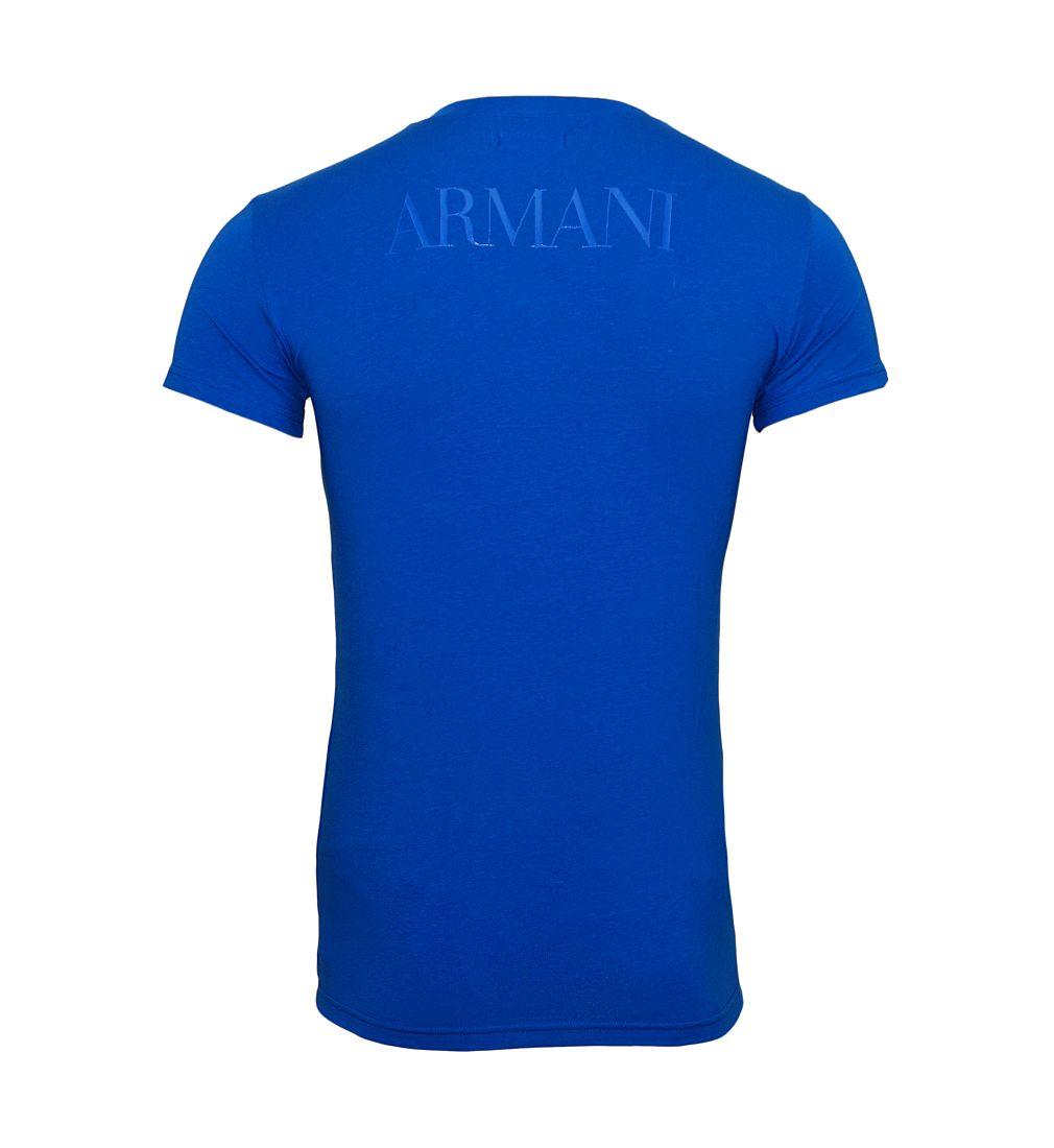 EMPORIO ARMANI Shirt T-Shirt BLU CINA 110810 7P516 03833 WF17-EATS1