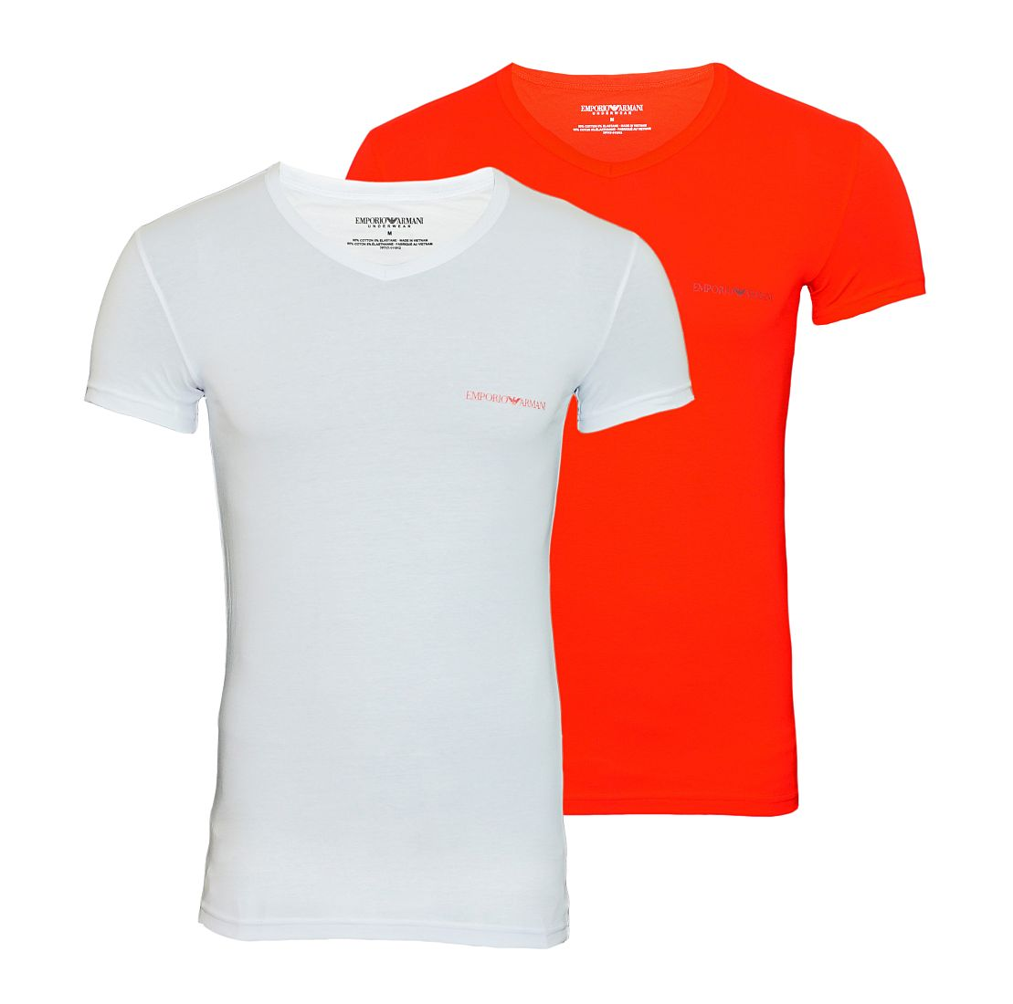 EMPORIO ARMANI 2er Pack Shirts T-Shirt BIANCO/ROSSO 111512 7P717 01010 WF17-EATS1