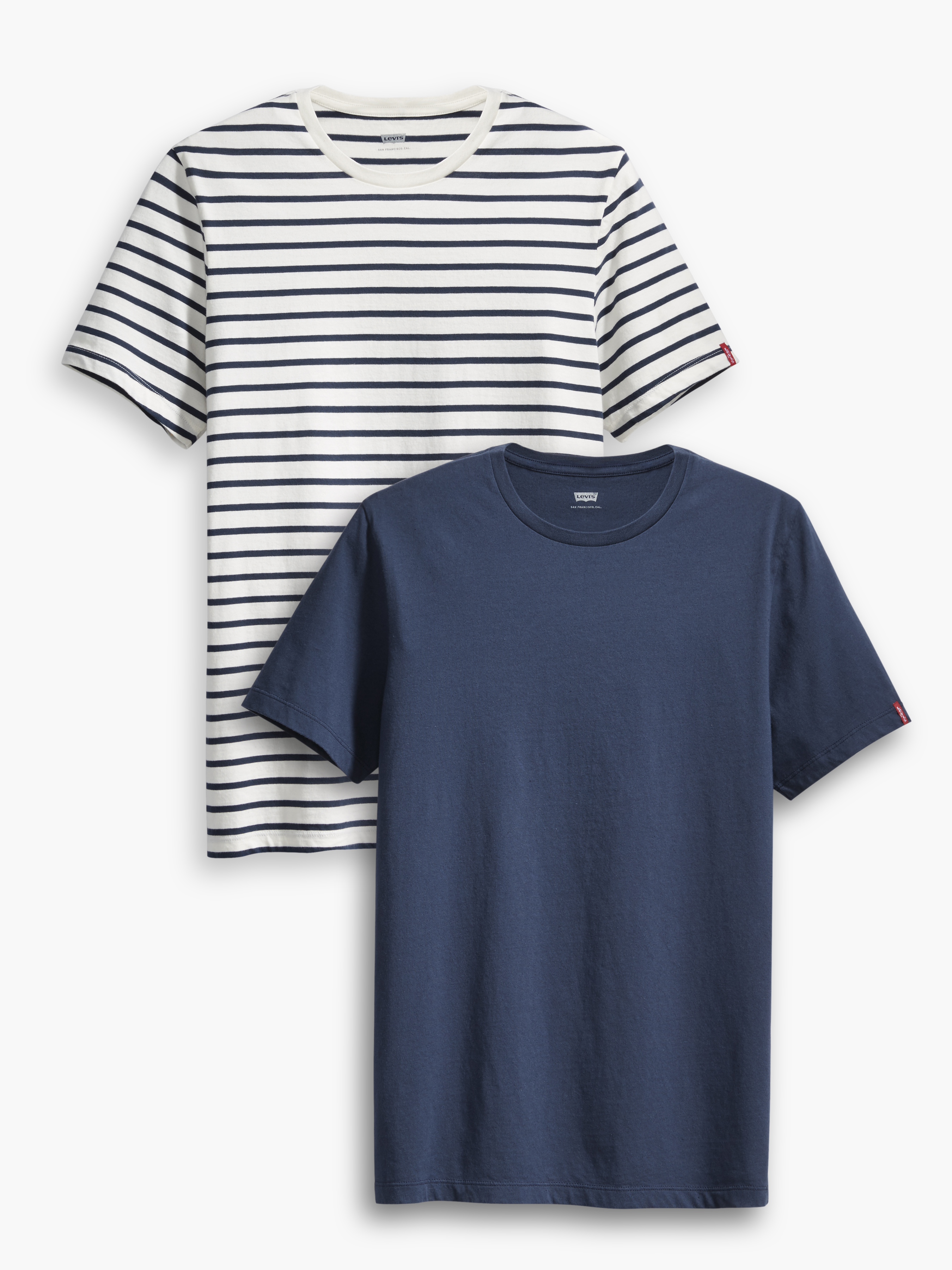 LEVIS 2er Pack Shirts Rundhals T-Shirts 82176-0025 weiß, navy W18-LVT1