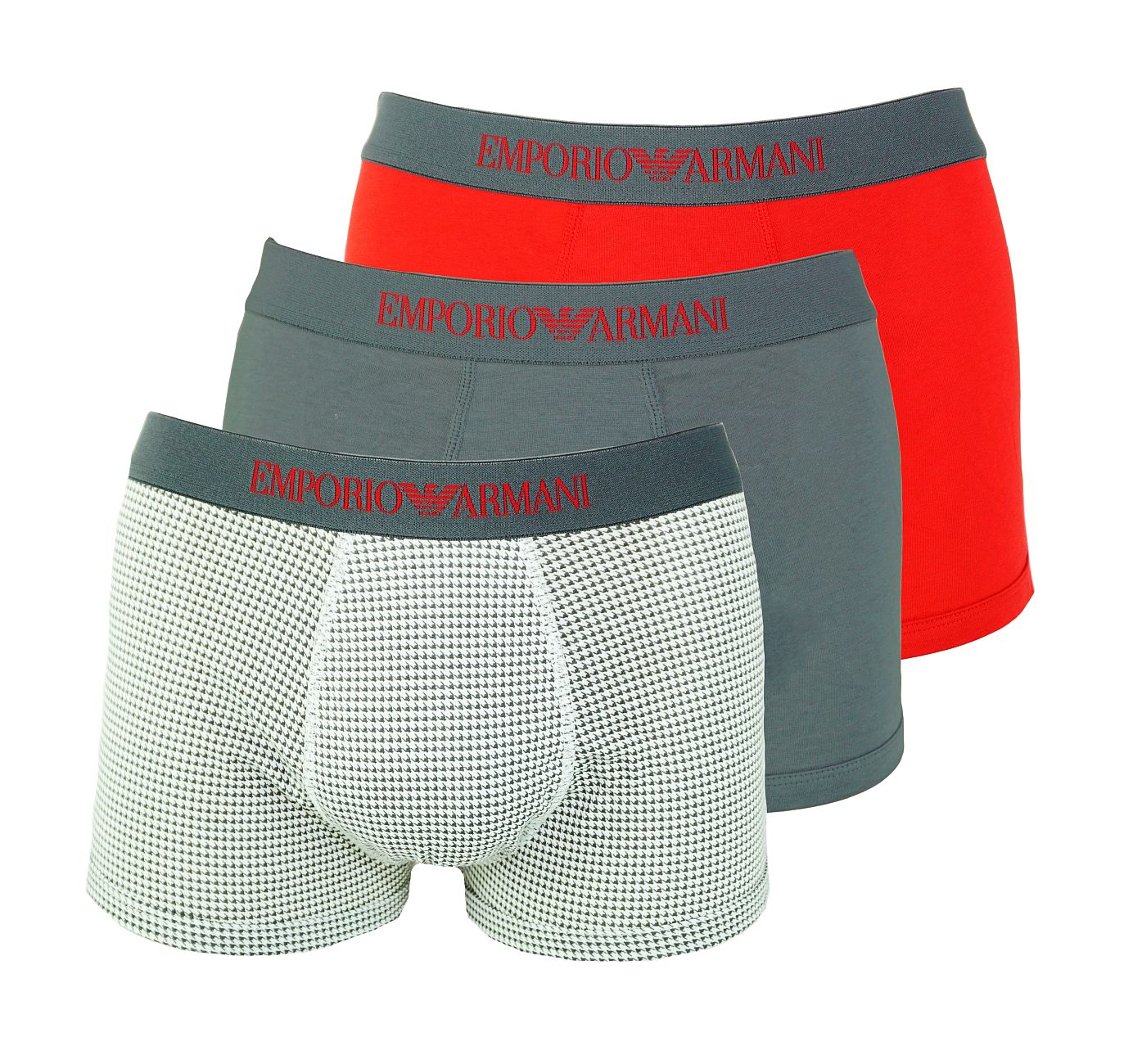 Emporio Armani 3er Pack Trunks Shorts 111625 8A722 21644 ANTRAC/ANT.ST/RUBINO WX18-EAU