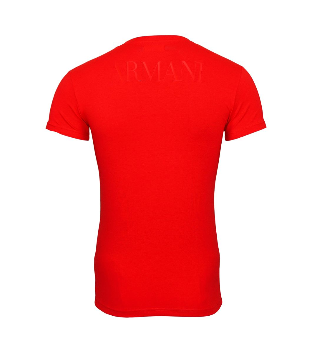 Emporio Armani T-Shirts V-Ausschnitt 110810 8P516 17574 TANGO RED W18-EATS1