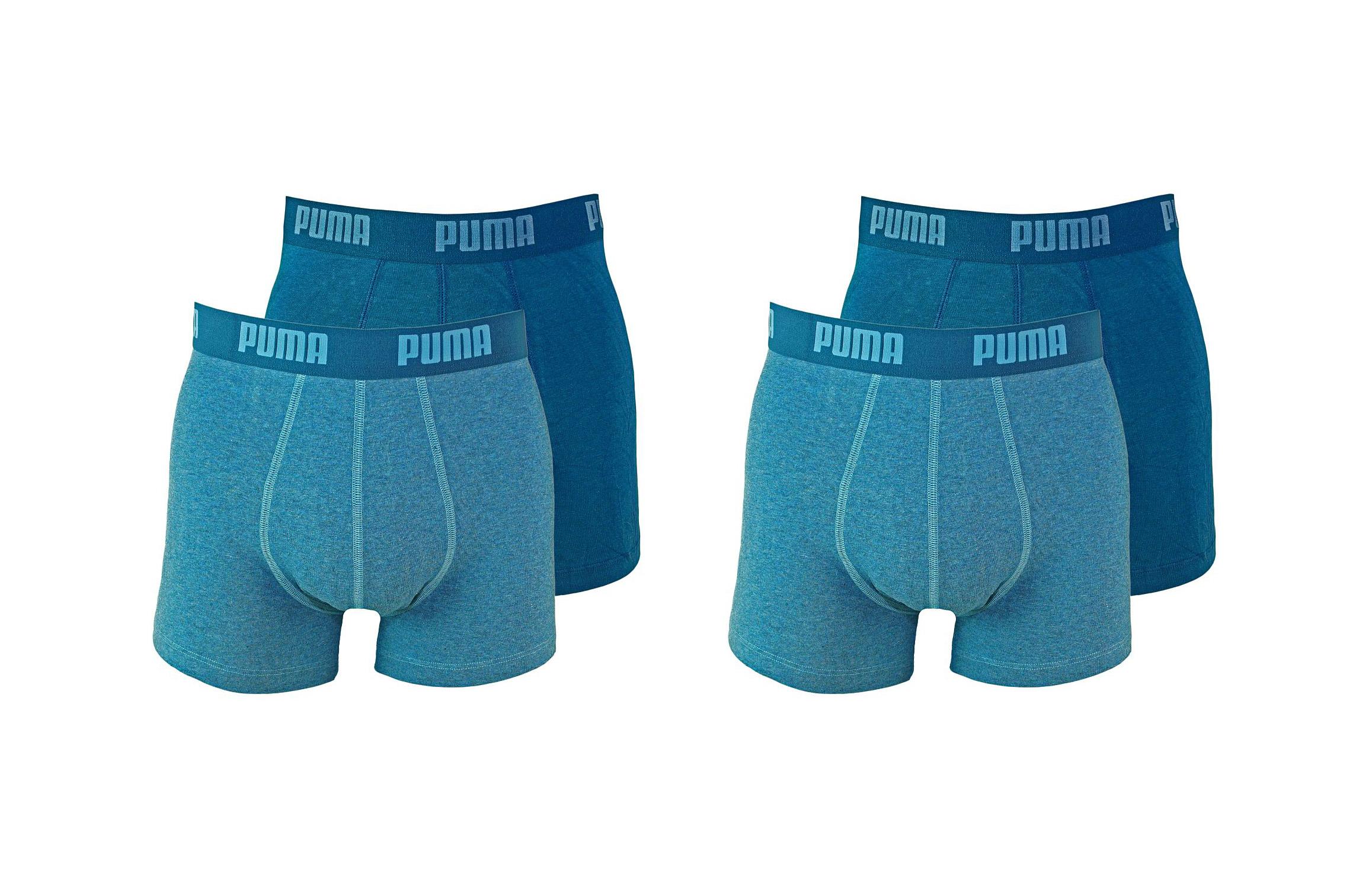 PUMA Shorts Unterhosen 2 x 2er Pack Boxer 521015001 162 020 denim SF17-PMS2