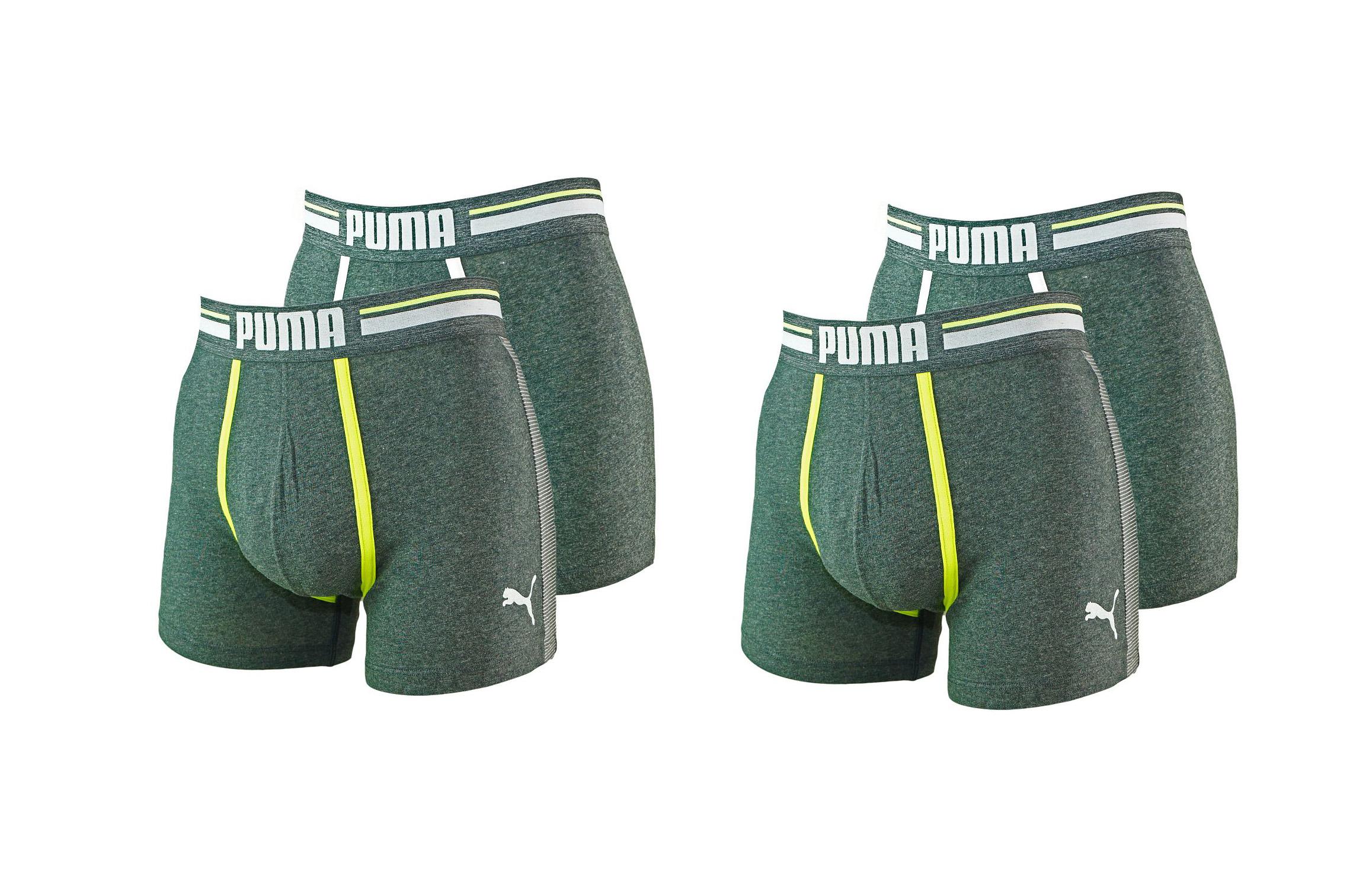 PUMA Shorts Unterhosen 2 x 2er Pack Boxer 571005001 962 020 asphalt SF17-PMS2
