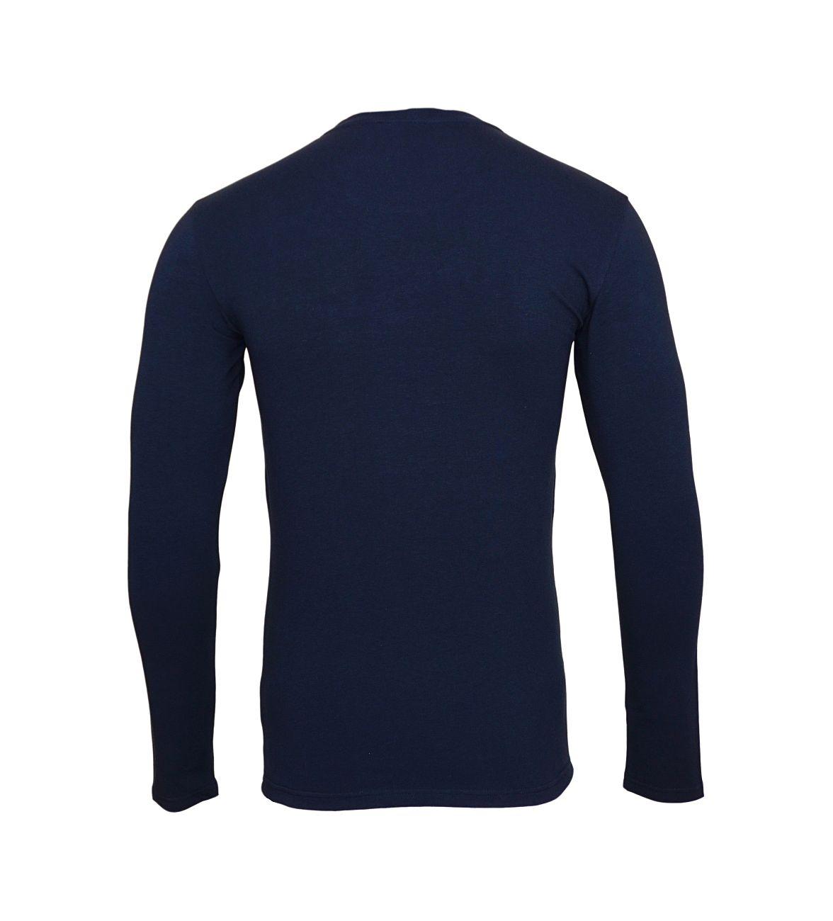 Emporio Armani Longsleeve Rundhals Shirt 111023 8A512 00135 MARINE WX18-EAL