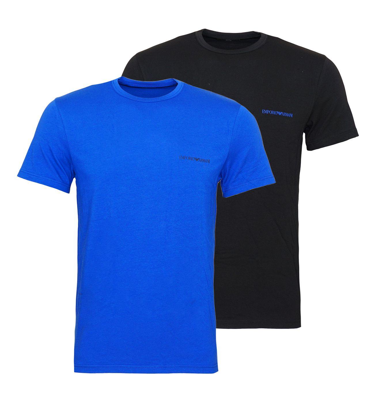 Emporio Armani 2er Pack T-Shirts Rundhals 111267 8A717 59920 NERO/MAZARINE SH18-EAT1