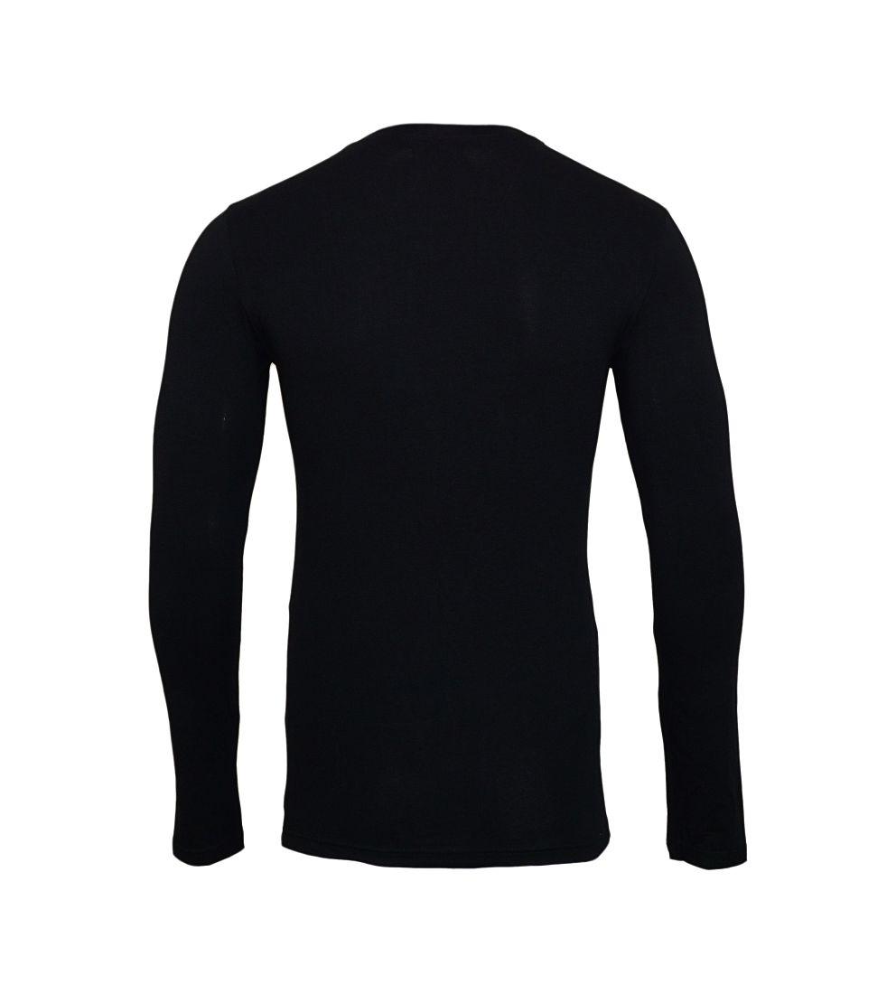 Emporio Armani Longsleeve Shirt Rundhals 111023 7A512 00020 NERO SH17-EALS1