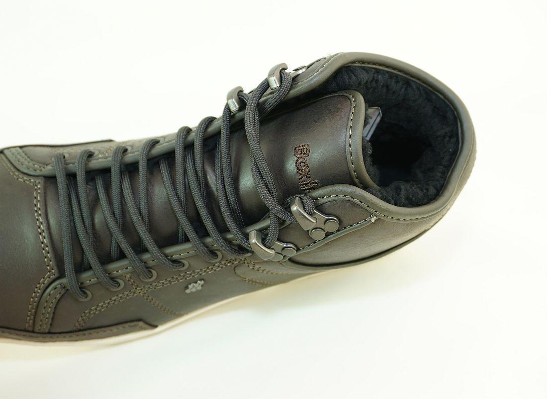 Boxfresh Schnürschuhe Schuhe Swapp 3 Prem UH LEA E-15247 Dark Khagi Sneaker SH17-BFS1