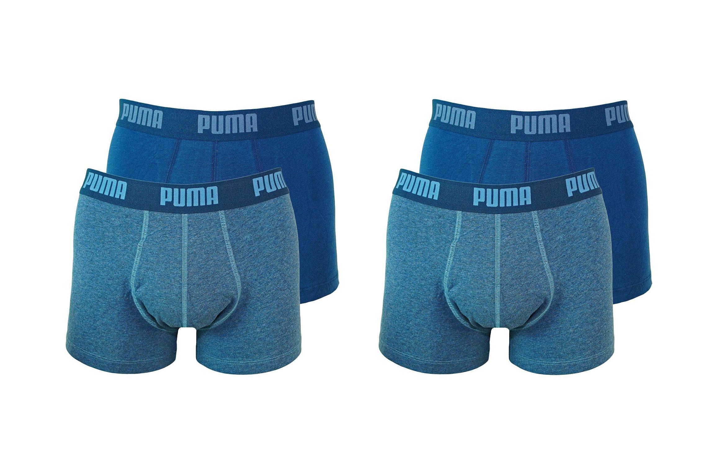 PUMA Shorts Unterhosen 2 x 2er Pack Trunk 521025001 162 020 denim SF17-PMS2