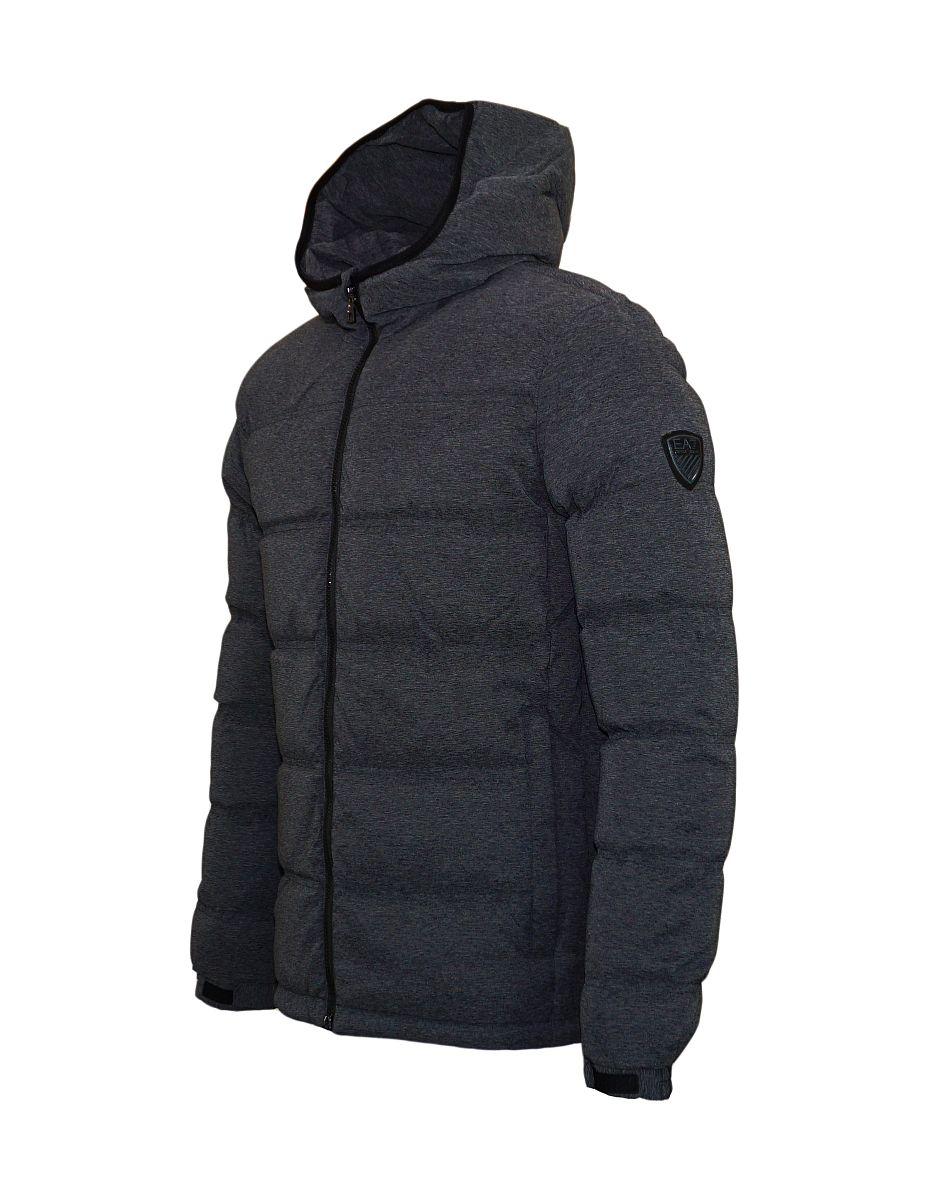 EA7 Jacke Down Jacket mit Kapuze Winterjacke 6YPB24 PNB7Z 3903 Dark Grey Melange Emporio Armani SH17