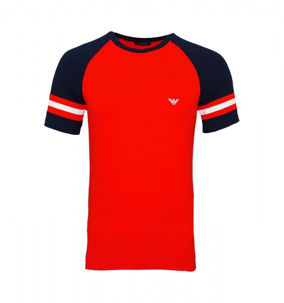 Emporio Armani T-Shirt Rundhals 111811 9P529 00074 rot FS19-EAT1