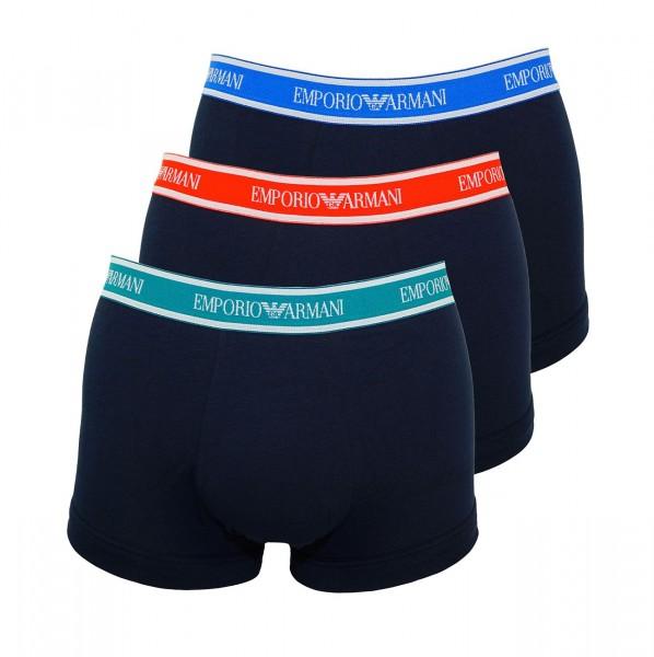 Emporio Armani 3er Pack Trunks Shorts 111357 9P717 40035 MARINE W19-EAT1