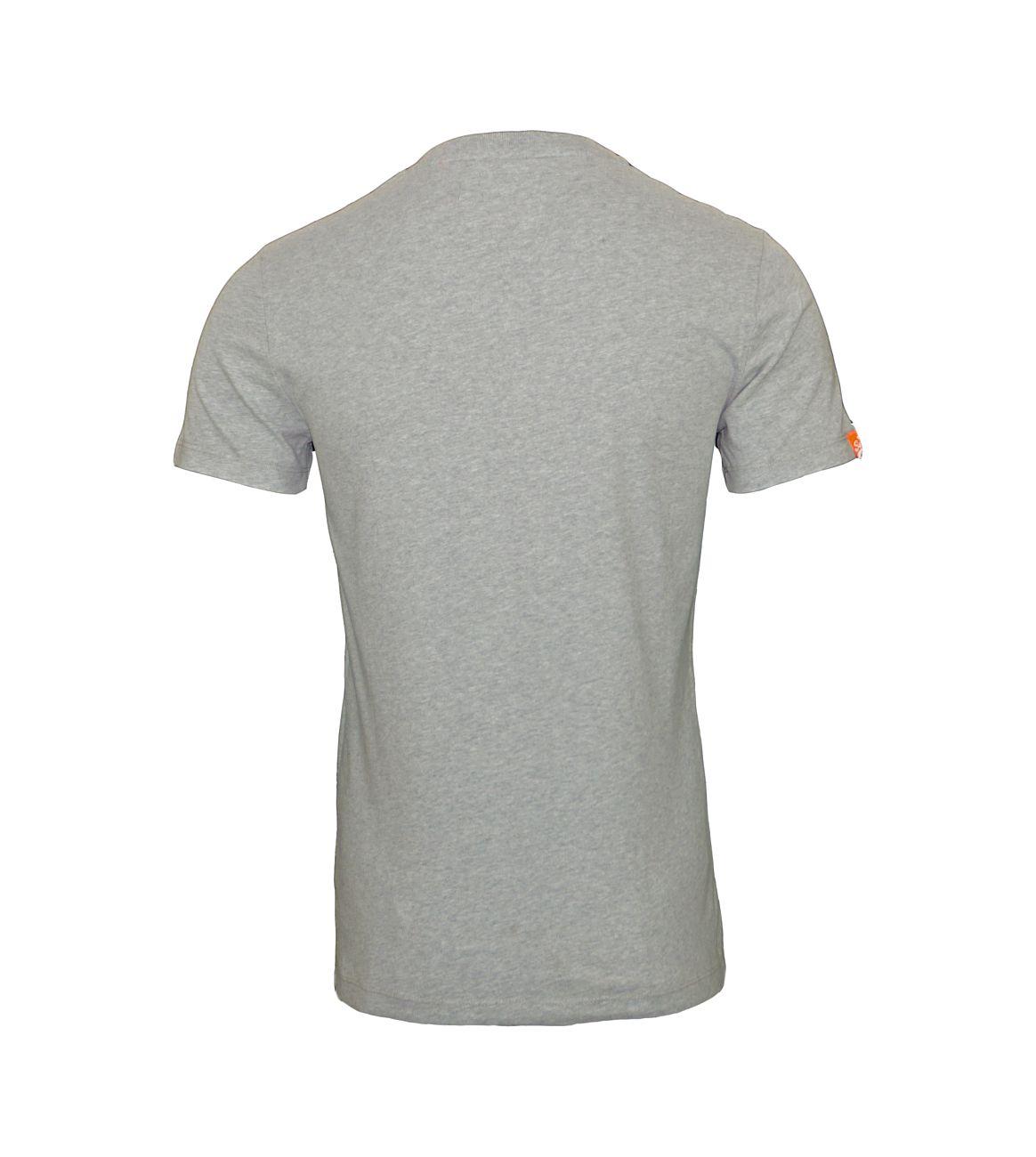Superdry T-Shirt Orange Label VNTGE EMB VEE Tee M10001NS1 Grey Marl F18-SDT1