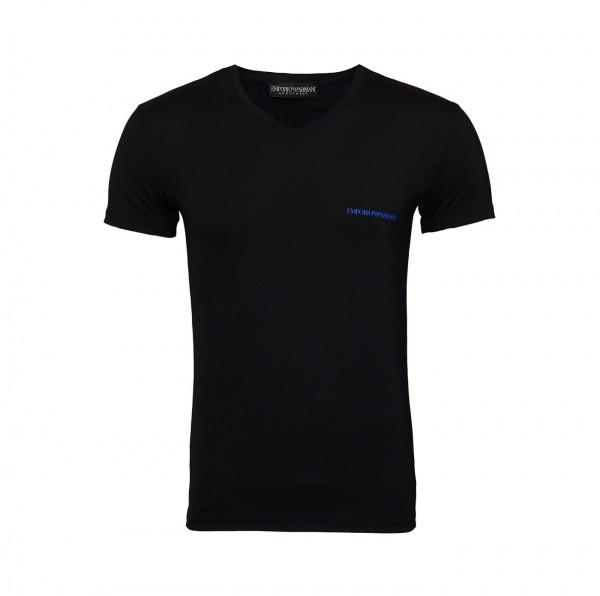 Emporio Armani T-Shirt V-Neck 110810 9P719 00020 schwarz FS19-EAT1
