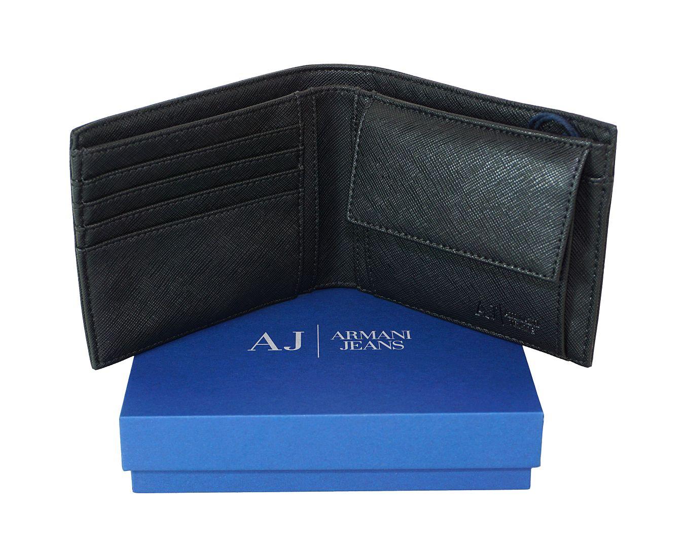 Armani Jeans Geldbörse Börse 938538 CC991 00020 Nero HW16-AJn