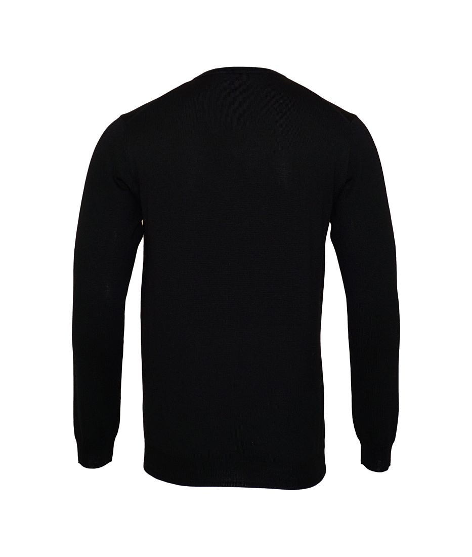 JOOP Strickpullover Pullover Damien V-Ausschnitt 10001600 001 schwarz S17-JOP1