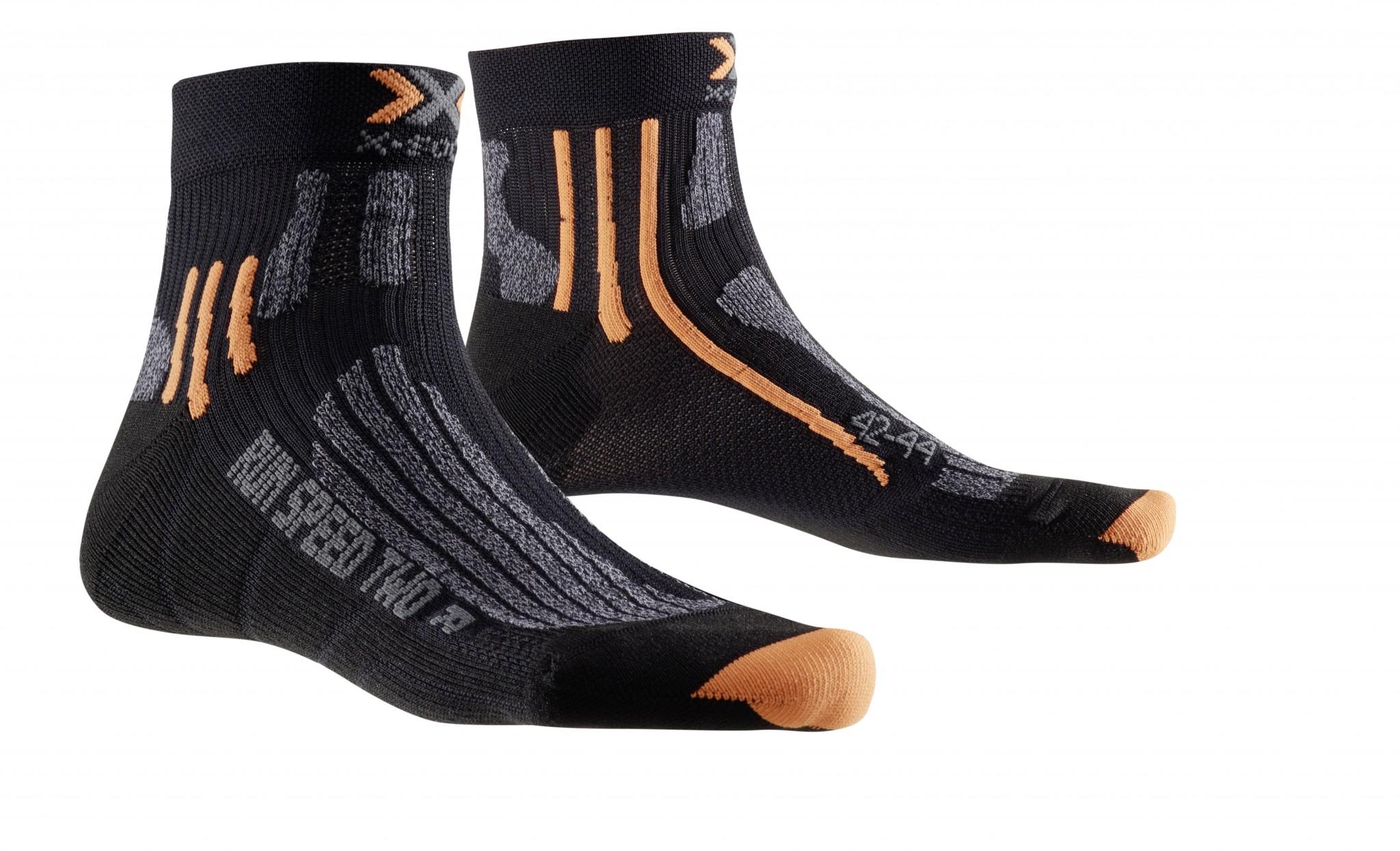 X-SOCKS Socken, Strümpfe Run Speed Two schwarz unisex von Gr. 35 - 47 S17-XS1