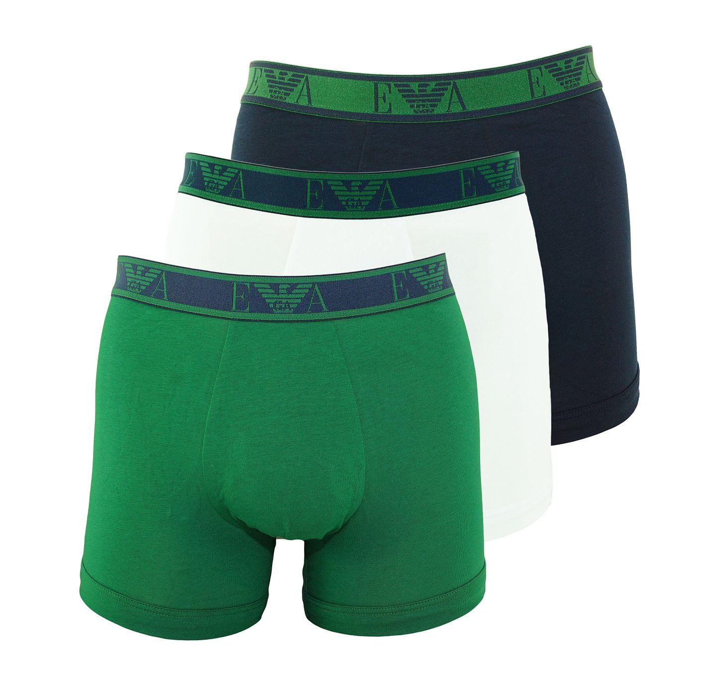 Emporio Armani 3er Pack Boxer Boxershorts 111473 8A715 54635 MARINE/SMERALDO/BCO SH18-AB1