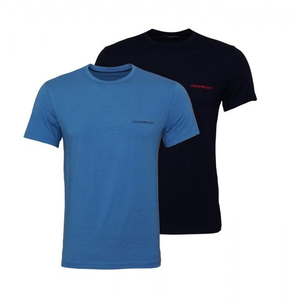 Emporio Armani 2er Pack T-Shirt Crew-Neck 111267 9A717 17331 blau schwarz SS19-EAT1