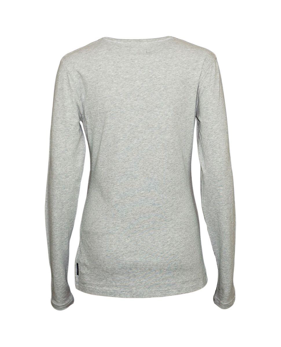 Emporio Armani Damen Shirt Longsleeve V-Ausschnitt 163141 7A225 00048 GRIGIO MELANGE HW17-EADL