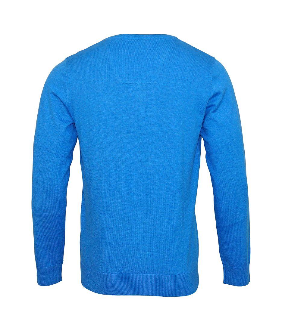 Tom Tailor Pullover Sweater Strickpullover V-Ausschnitt swimming pool blue 3021321 0910 6755 WF17-J1