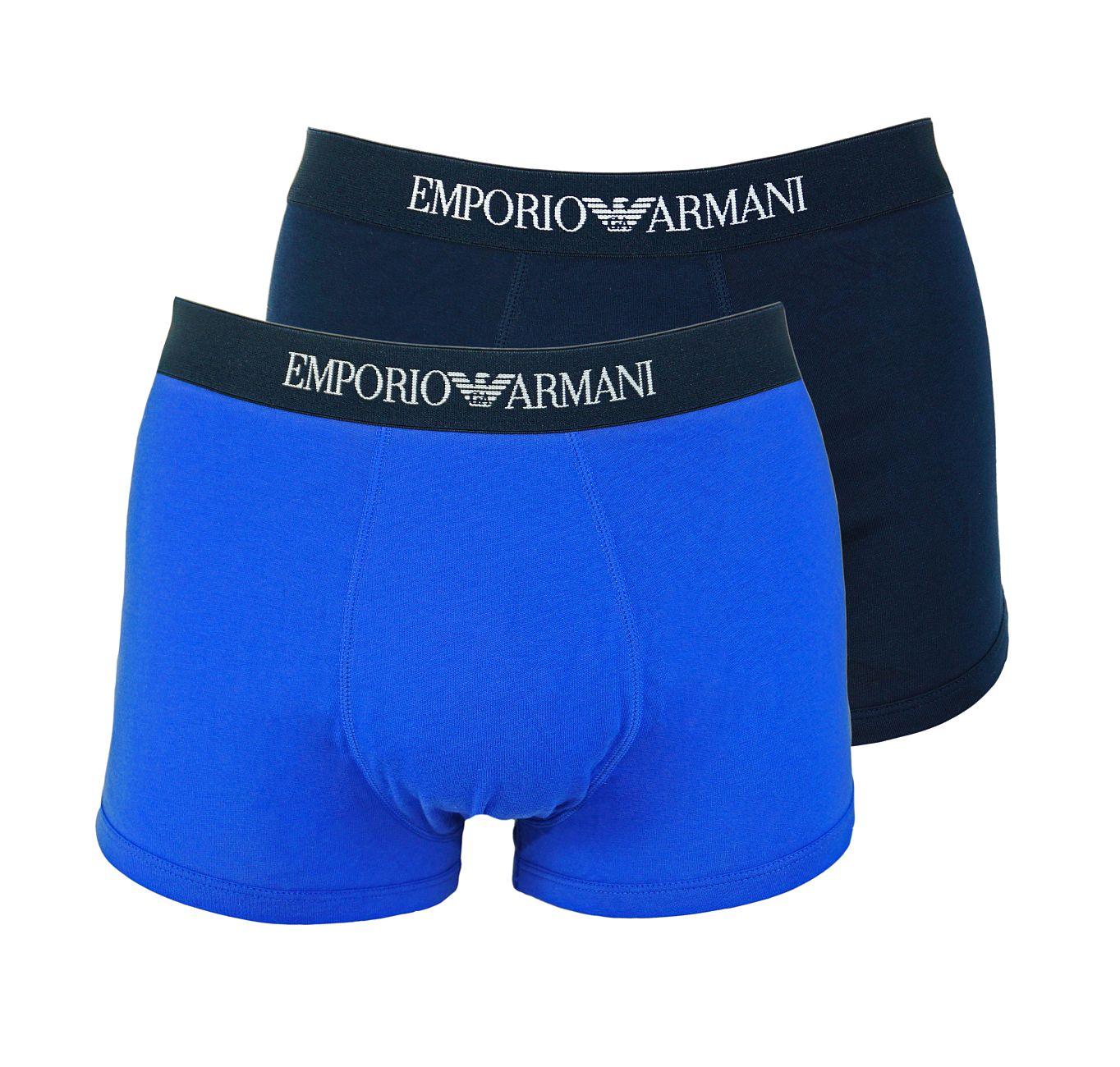 Emporio Armani 2er Pack Trunk Shorts 111613 8P722 50035 MARINE/ULTRAMARINE F18-EAT1
