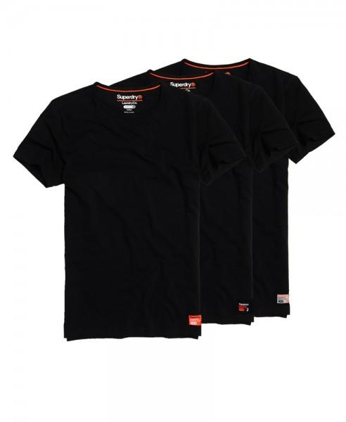 Superdry Laundry T-Shirt im 3-er Pack M31006NR schwarz WJ19-SDT2