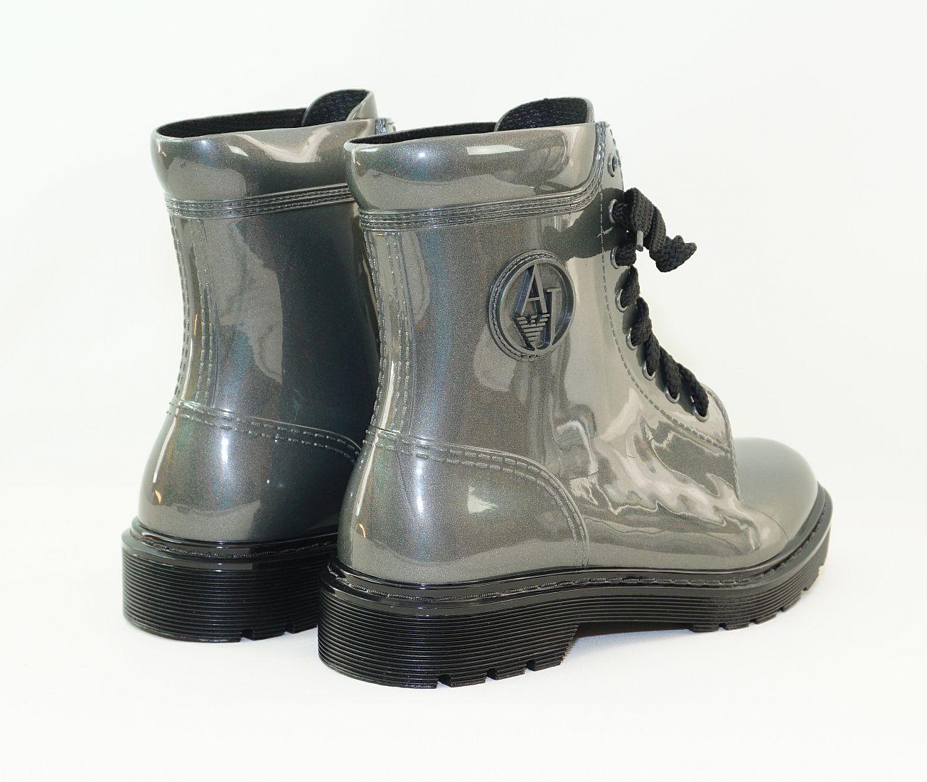 Armani Jeans Schuhe Stiefel Boot 925118 6A520 40820 Gun Metal HW16-AJn