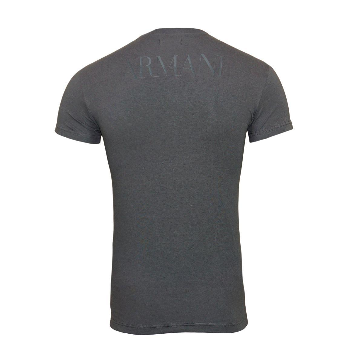 Emporio Armani T-Shirt Rundhals 111035 8P516 00044 ANTRACITE W18-EATS1