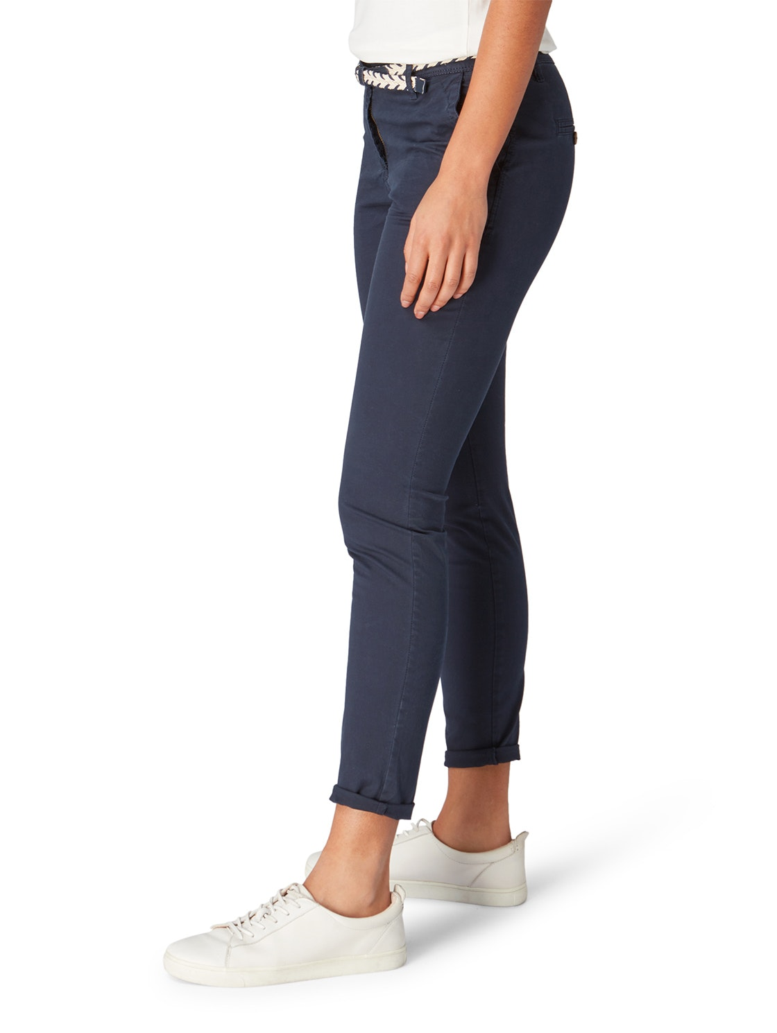 Tom Tailor Damen Chino Hose Slim 1008380.xx.70 10668 sky captain blue WF19 TTC1