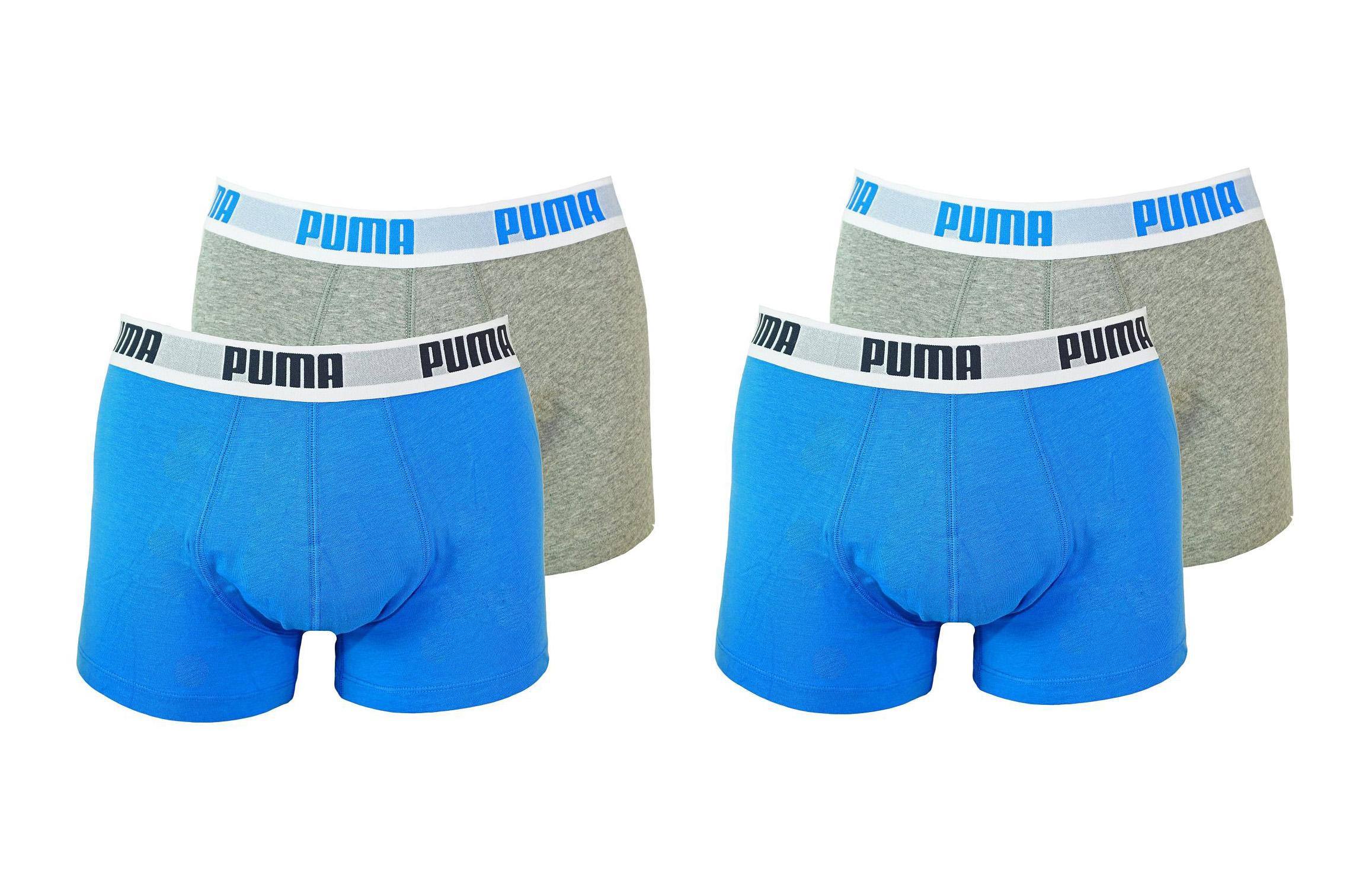 PUMA Shorts Unterhosen 2 x 2er Pack Trunk 521025001 417 020 blue, grey SF17-PMS2
