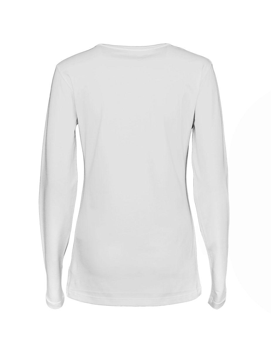Emporio Armani Damen Shirt Longsleeve Rundhals 163378 7A263 00010 BIANCO HW17-EADL