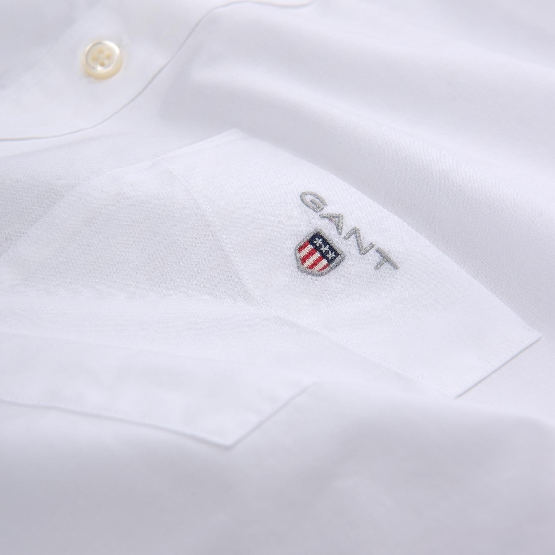 Gant Hemd Herrenhemd THE BROADCLOTH REG BD 3046400 WHITE SH18-GHH1