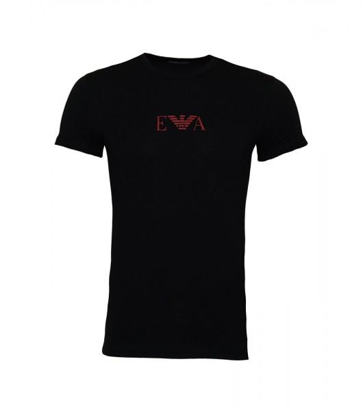 Emporio Armani T-Shirt Rundhals Crew-Neck 111035 9A715 00020 schwarz SS19-EAT1